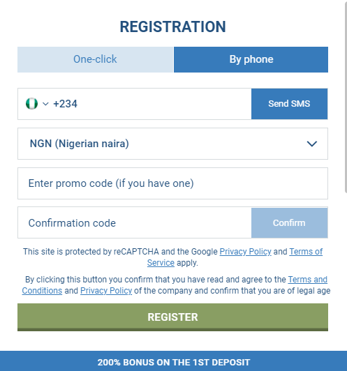 1xBet For Nigerian Players